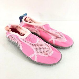 Girls Water Shoes Slip On Fabric Mesh Drawstring